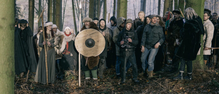 Silentfilm production making of FAUN - Feuer music video shoot behind the scenes image